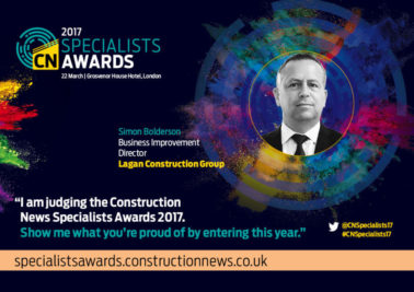Group Director Helps Judge Construction News 2017 Specialist Awards
