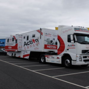 Action Cancer Big Bus Visits HQ