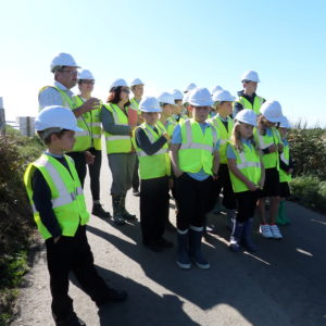 Local school children visit one of Aviation & Infrastructure Projects