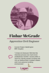 Finbar McGrade - Apprentice Civil Engineer