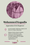 Mohammed Kapadia - Apprentice Civil Engineer