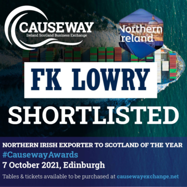 FK Lowry shortlisted for Causeway: Ireland Scotland Business Exchange Awards