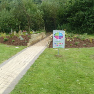 Volunteering Day at the NI Children's Hospice working on their Sensory Garden