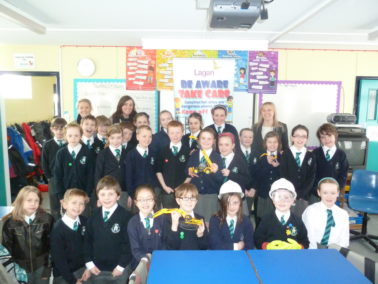 Lagan Construction Group visit Acorn Integrated Primary School