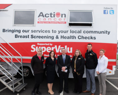 Action Cancer's Big Bus visits Lagan Construction Group