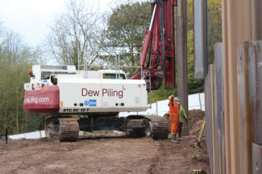 Dew Piling Working at Carrington Power