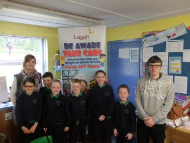 Lagan Construction Group visit Crossroads Primary School