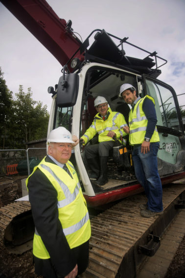 Kennedy views progress on new £2.5million Wastewater Treatment Works for Donaghmore