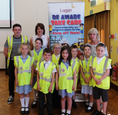 Lagan Construction Group visit Gilnahirk Primary School