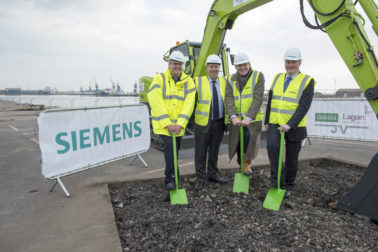 The Rt Hon Ed Davey marks ground-breaking of Siemens Hull development