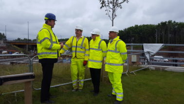 Under Secretary of State for Transport visits A19 Project