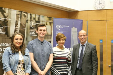 Best group performance in Surveying acknowledged at QUB