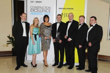 A successful evening for Lagan Construction Group at the 2012 CEF Awards!