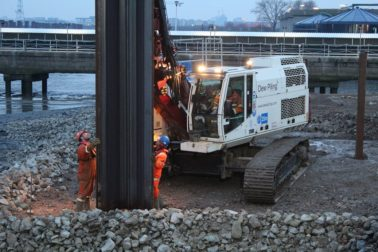 Dew Piling gets to work at the London Tideway Tunnels – Lee Tunnel Project