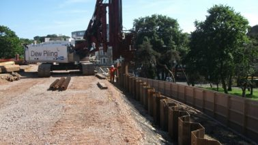 Dew Piling completes contract for Morgan Sindall in Bournemouth