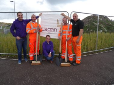 Lagan O&M Donate equipment for NI Hospice Sparkle Dash