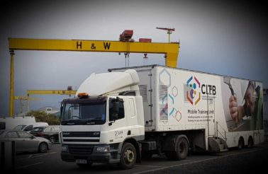 CITB Mobile Training Unit visits HQ for Mental Health Awareness Training