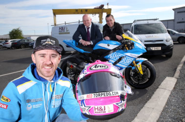 H&J Martin Sponsors International Road Racer Lee Johnston
