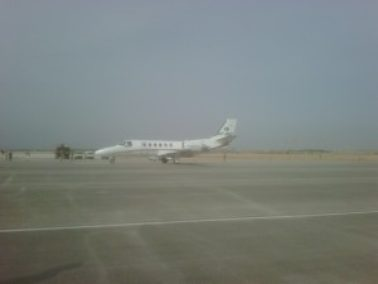 The first aircraft has landed at the new Benazir Bhutto International Airport in Pakistan