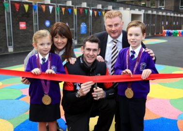 Paralympic hero opens London 2012 inspired playground at NI primary School