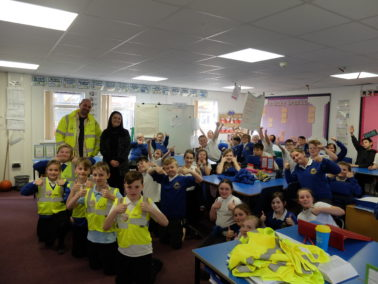 Lagan Construction Group visit Countess Wear Community School in Exeter