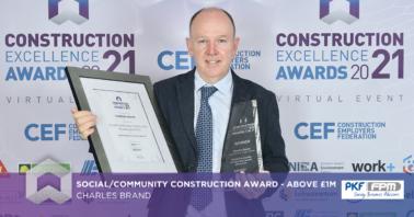 Charles Brand win Award at CEF Awards 2021