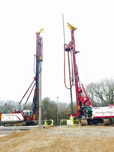 FK Lowry carries out Preliminary Trial Piling for new Roads Scheme