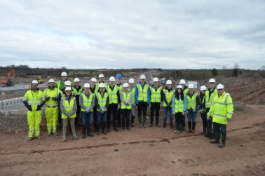 Strathclyde University Students Visit M8 M73 M74 Motorway Improvements Project