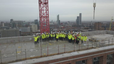 H&J Martin celebrates milestone with a Topping Out Ceremony at Outwood Wharf Development