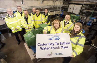 Minister visit marks completion of Castor Bay to Belfast Water Trunk Main