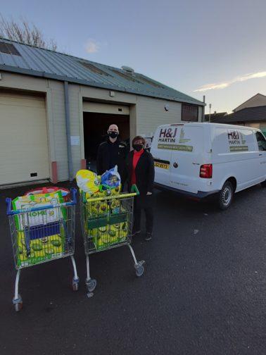 H&J Martin Scotland Office donates to The Edinburgh Food Project