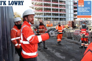 FK Lowry Piling supports Safety Week on its Dublin Projects