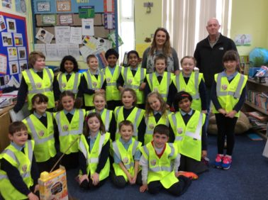 Lagan Construction Group visit St Padarn's Primary School, Aberystwyth